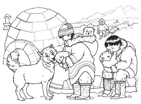 snow bears coloring pages - photo#24